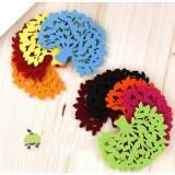 Wholesale - Stylish Crative Tree Pattern Coaster 2PCs