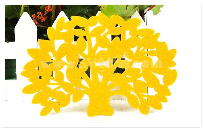 Stylish Crative Tree Pattern Coaster 2PCs