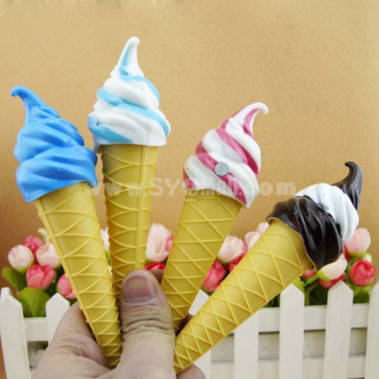 Ice Cream Pens with Magnetic Sticker 2PCs