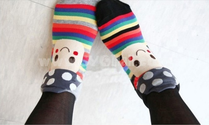 Stylish Cotton Mushroom Thick Socks 2 Pairs