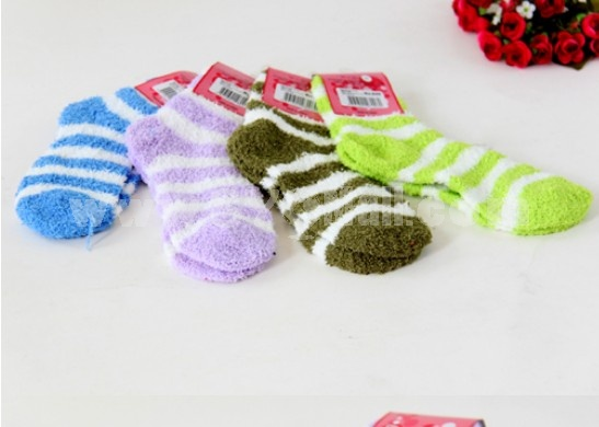 Extra Thick Candy Color Terry Socks 2 Pairs