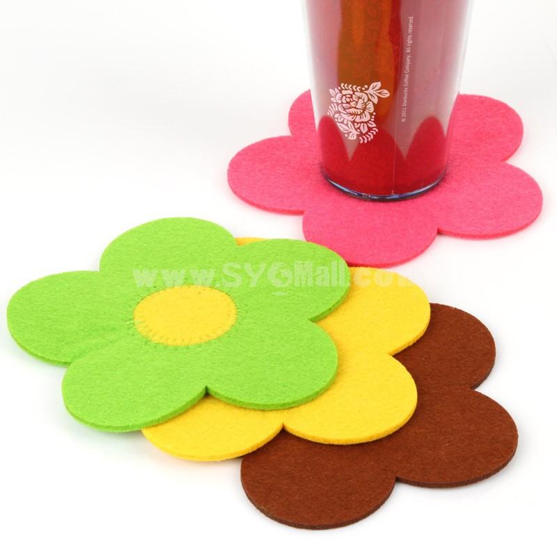 Stylish Sunflower Coaster Medium 2PCs
