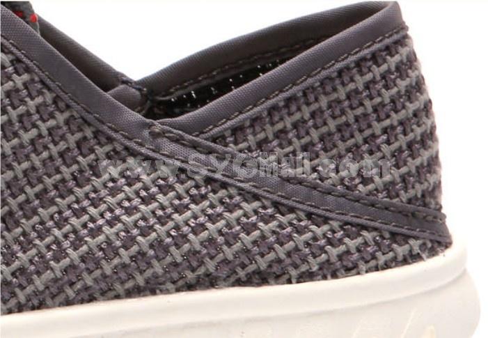 GOUNIAI Men's Fashion Breathable Mesh Casual Shoes Low Top