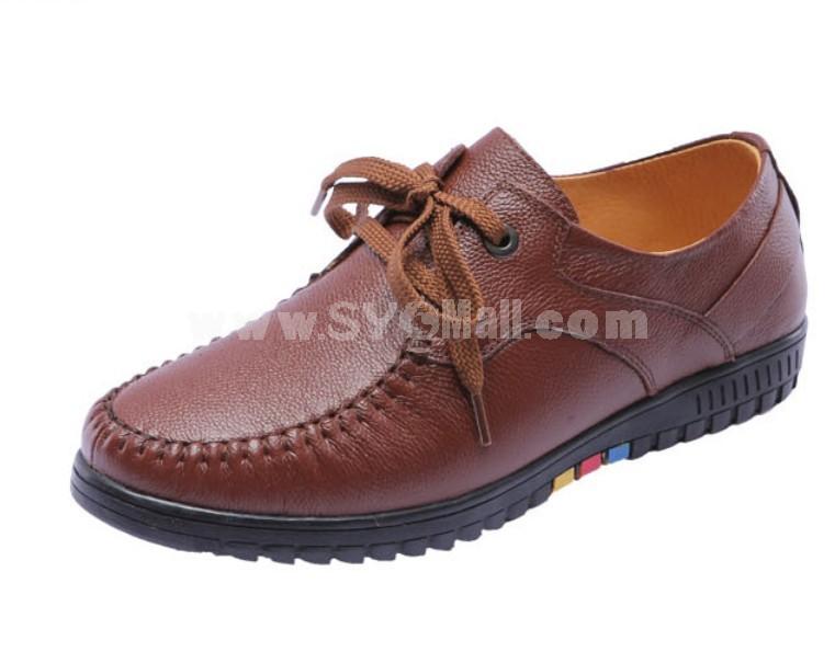 GOUNIAI Men's Classic Vintage Style Leather Shoes