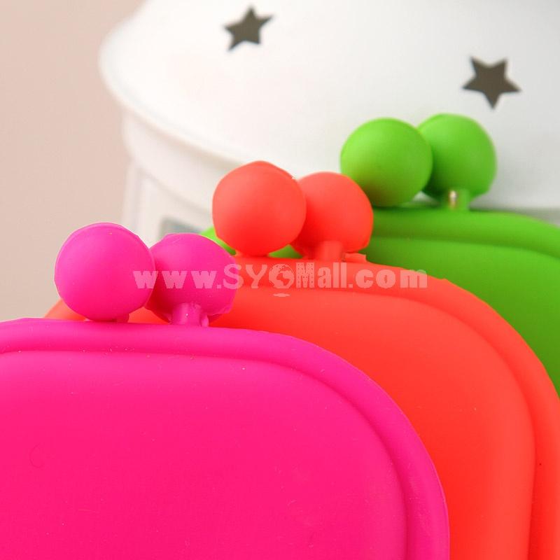 Storage Bag/Purse/Case Silica Gel Multi-Purpose Candy Color Coins/Cellphone/Cards (P2474)