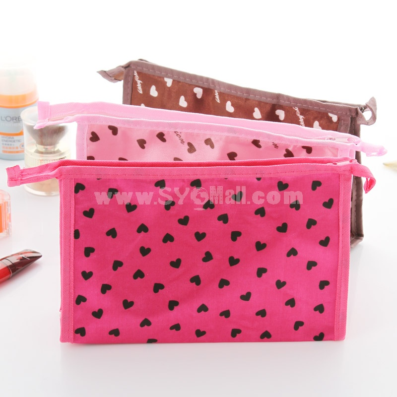 Cosmetic Bag / Travel Bag Lovely Hearts Design Polyester (SN2036)