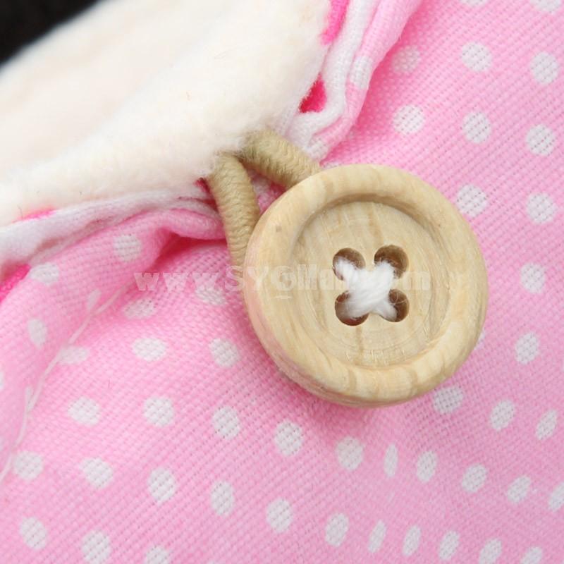 Storage Bag/Case for Sanitary Napkins Cartoon Panda / Kitty Cotton 2-Pack (P2272)