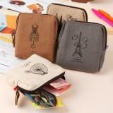 Wholesale - Storage Bag/Case/Purse Paris Impression Canvas (P2444)