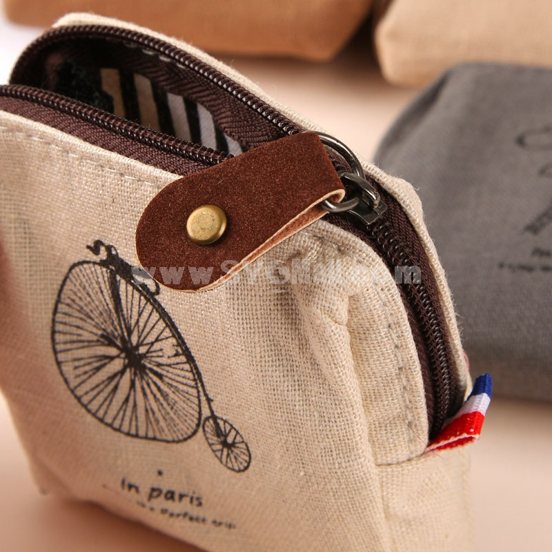 Storage Bag/Case/Purse Paris Impression Canvas (P2444)