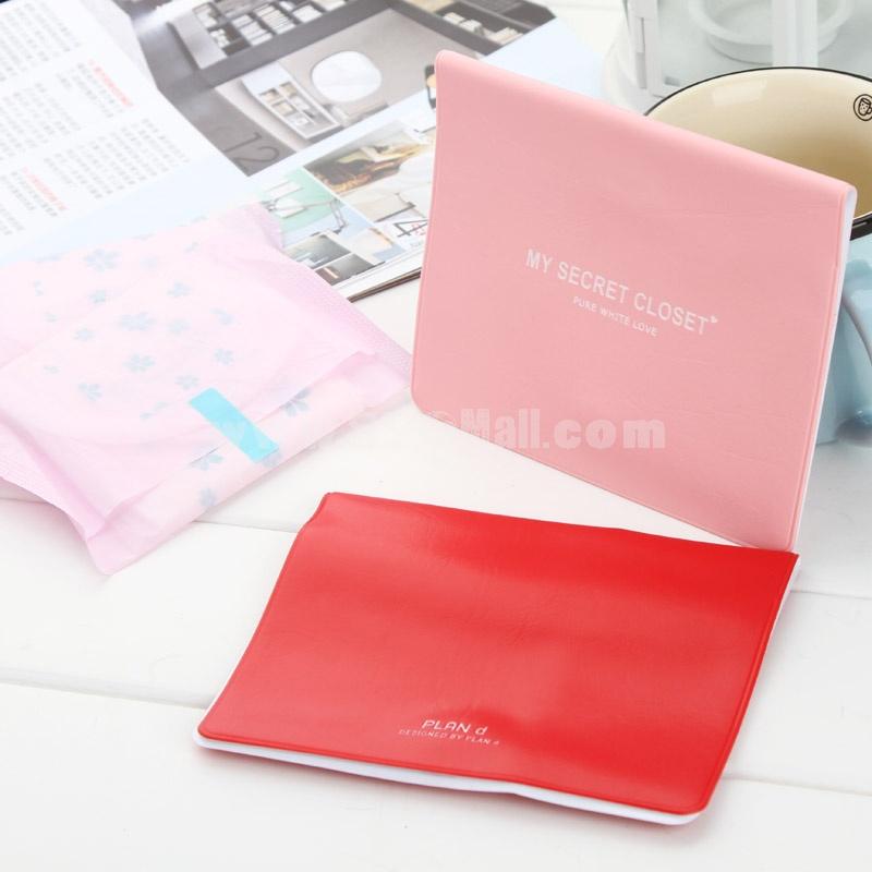Storage Bag/Case for Sanitary Napkins PU Pure Color 2-Pack (K0680)