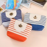 Wholesale - Handbag/Storage Bag/Cosmetic Bag/Purse Multi-Purpose Metal Logo/Stripes Style (K0646)