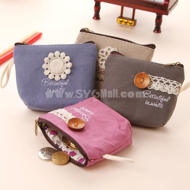 Handbag/Storage Bag/Purse Embroidery/Button Style Canvas (SN2043)