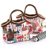 Wholesale - Handbag/Storage Bag/Lunch Bag Preppy Style Cotton (K0807)