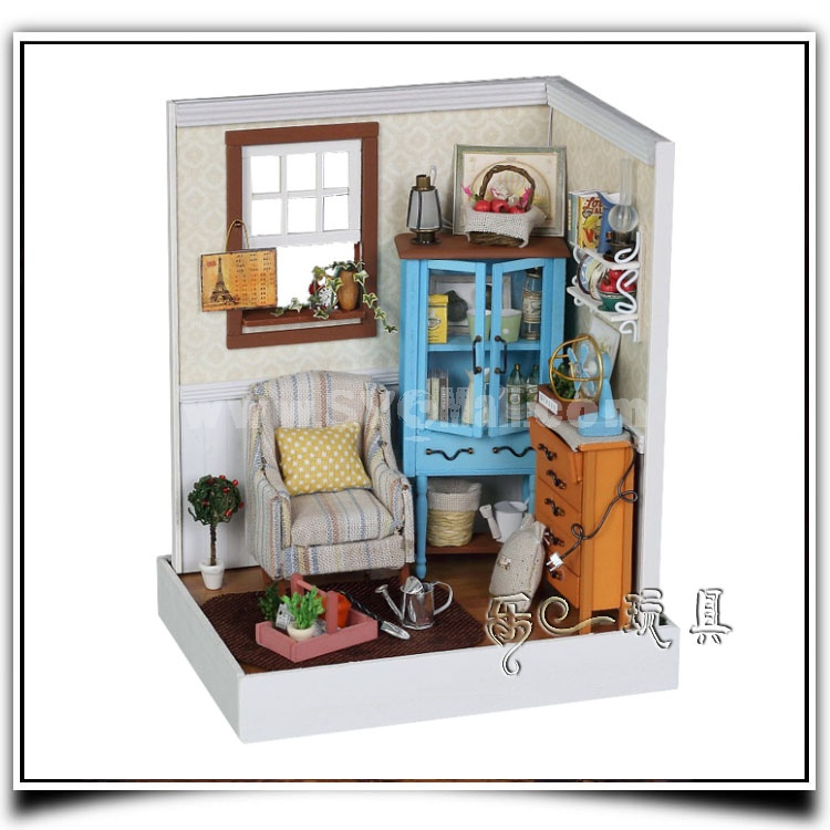 F001 Wooden DIY Handmade Assembly Mini House