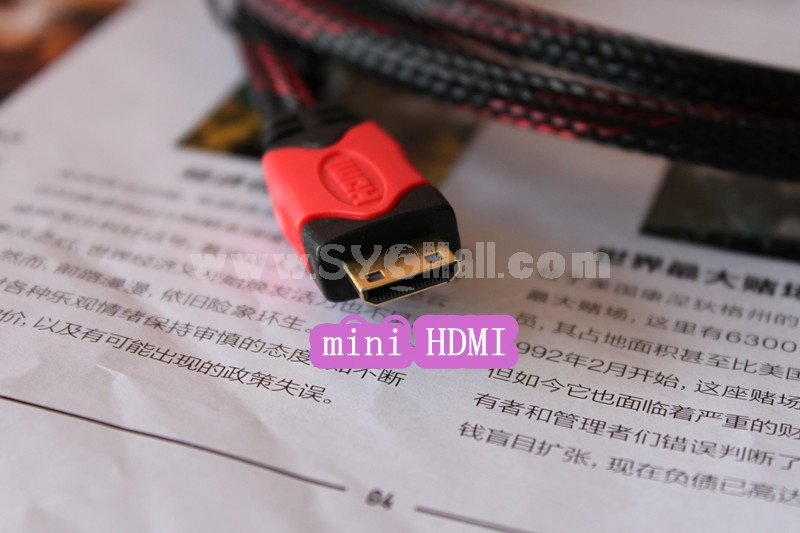 High Speed Mini HDMI to HDMI Cable 9.8 Ft