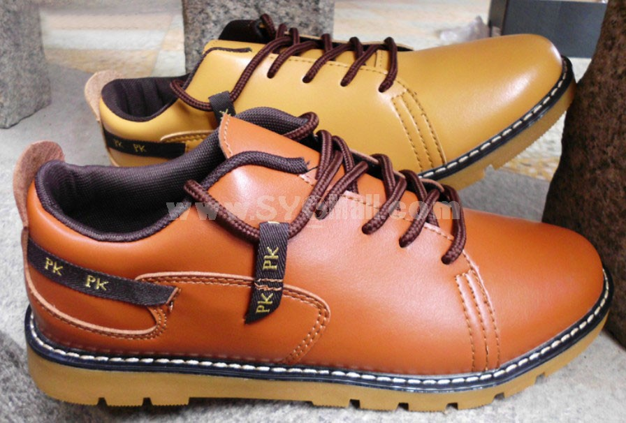 GOUNIAI Men's Fashion Leather Outdoor Casual Shoes