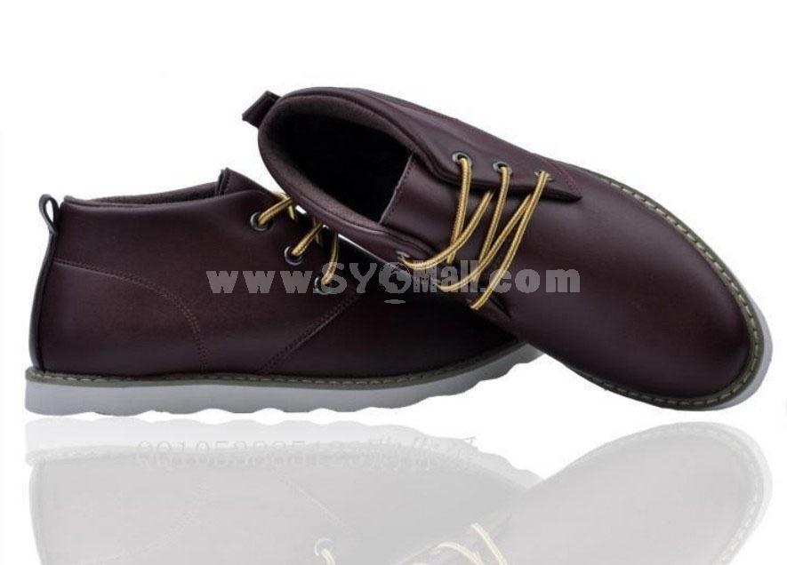 GOUNIAI Men's Leather Stylish Casual Shoes