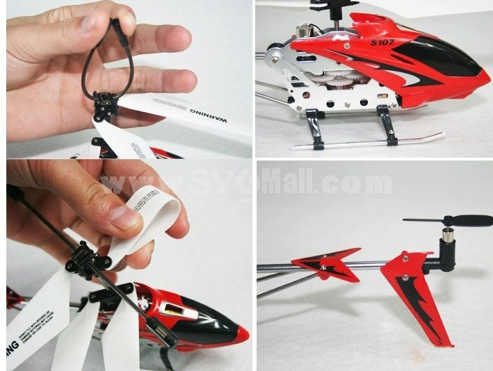 SYMA S107G 19CM Mini Indoor RC Remote Alloy Helicopter