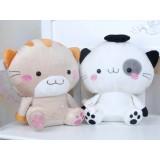 "Wholesale - Cartoon Couple Cat 25cm/10"" PP Cotton Stuffed Animal Plush Toy - One Pair"