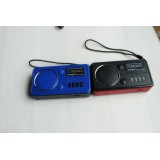 wholesale - Portable Classic Vingate Radio Shaped Speaker Support Micro SD Card/Flash Disk