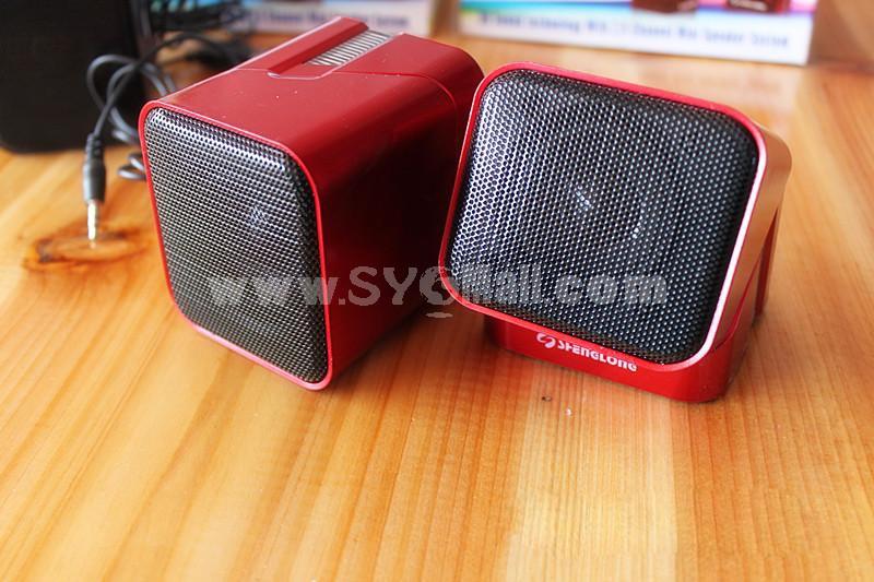 BTY Mini USB Rotatable Stereo Laptop Speaker