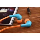 Wholesale - AWEI ES-Q7i Colorblock Headphones Earphones Headsets For iPhone Mp3 Mp4