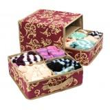 Wholesale - 2 Layer Storage Boxes Tail Leaf Pattern Underwear Box