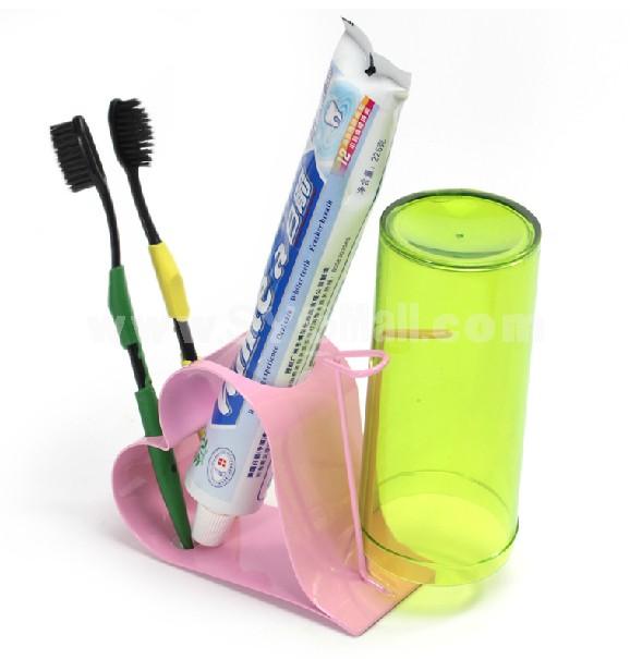 Heart-shaped Toothbrusher Holder
