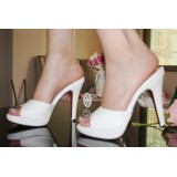 Wholesale - Soild Color Stilette Heel Sandals/Slippers