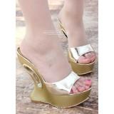 Wholesale - Leatherette Wedge Heel Sandals