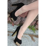 Wholesale - Seude Chunky Heel Closed Toe Shoes