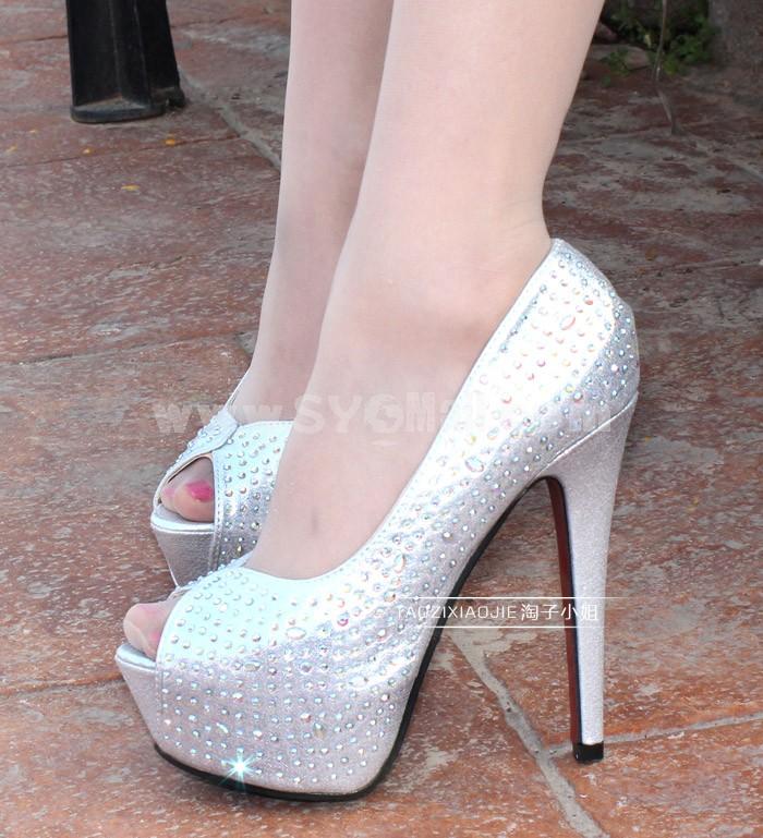Stilette Heel Peep Toe Shoes