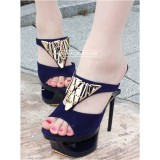 Wholesale - Leatherette Stilette Heel Sandals