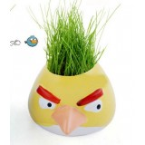 Wholesale - DIY Mini Green Plant Angry Bird Ceramic Stand Pattern Plant Yellow