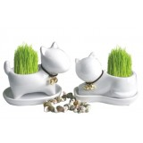 Wholesale - Vogue Horticulture DIY Mini Green Plant Dog Ceramic Stand Pattern Plant