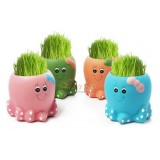 Wholesale - Vogue Horticulture DIY Mini Green Plant Octopus Ceramic Stand Pattern Plant