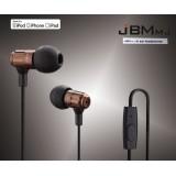 Wholesale - JBM MJ710 3.5mm Plug In-ear Earphone with Remote Control & Microphone