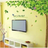 Wholesale - LEMON TREE Removable Wall Stickers Green Tree 51*71 in