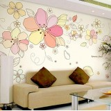 Wholesale - LEMON TREE Removable Wall Stickers Romantic Flowers 118*39 in