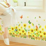 Wholesale - LEMON TREE Removable Wall Stickers Sun Flowers for Skirting Line 45*8 in