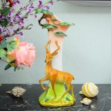 "Wholesale - Creative Ceramic Craft for Home Decoration ""Sika Deer and Pine"""