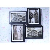 Wholesale - Classc Black and White 4 Combo Photo Frame