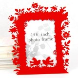 Wholesale - Chinese Paper-Cut Element Photo Frame - Red Metal Flower