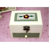 Wholesale - Vintage Brass Buckle Wood Jewelry Box Jewelry Case