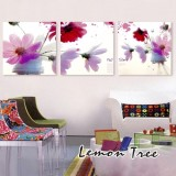 Wholesale - Modern Simple Style Home-super 3pcs 15mm Ply Waterproof Flower Wall Frameless Mural Painting Each Size 30*30cm