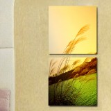 Wholesale - Modern Simple Style Home-super 2pcs 15mm Ply Waterproof Landscape Wall Frameless Mural Painting Each Size 30*30cm