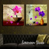 Wholesale - Modern Simple Style Home-super 2pcs 15mm Ply Waterproof Wall Frameless Mural Painting Each Size 30*30cm