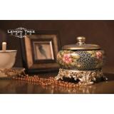 Wholesale - European Luxurious Style Ceramic Ashtray / Container Pattern Family Artware