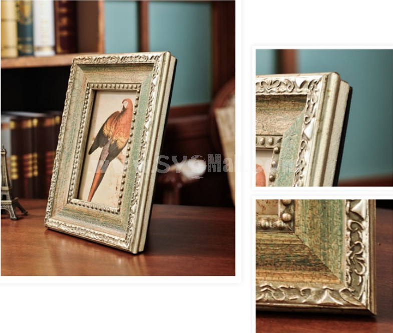 European Style Wooden Photo Frame Pattern Family Artware 6""