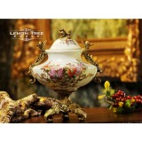 Wholesale - European Style Resin & Pottery Container with Foot Family Artware